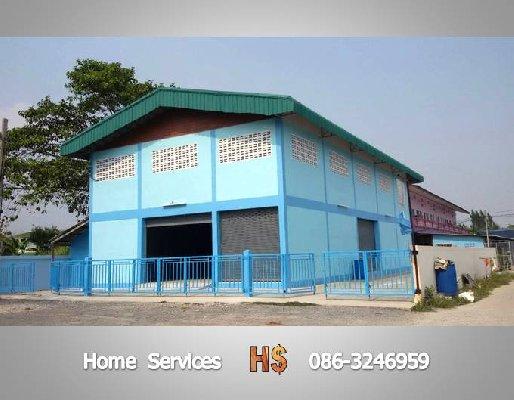 ให้เช่าโกดัง/โรงงาน ถ.345-346-ราชพฤกษ์ มี 1 อ๊อฟฟิซติดแอร์ 2 ห้องพักคนงาน 360 ตรม.ไฟฟ้า 3 เฟส