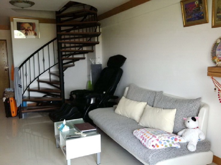 FOR SALE (สำหรับขาย) Champ Elysees Tiwanon / 1 bed 2 baths Duplex / Penthouse Style / 74 S