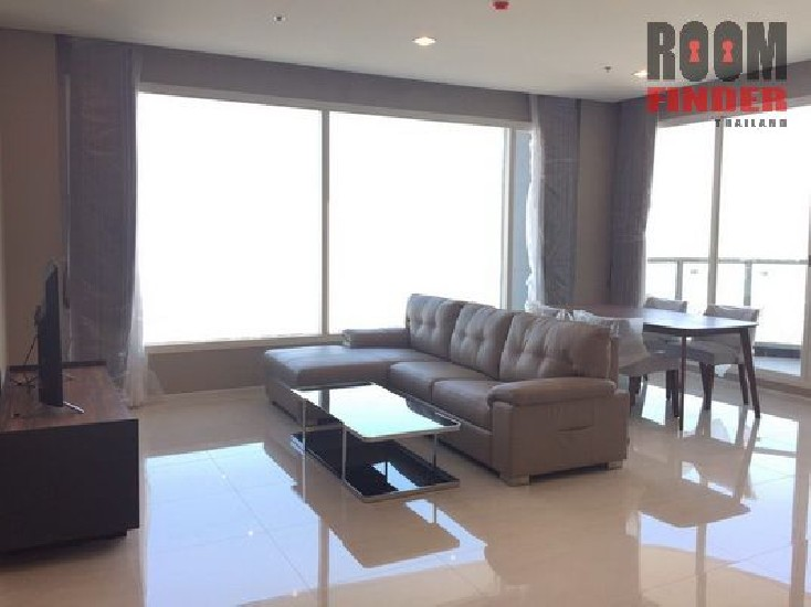 FOR RENT (สำหรับเช่า) Menam Residences / 2 beds 2 baths / 100 Sqm.**70,000** Brand New Con