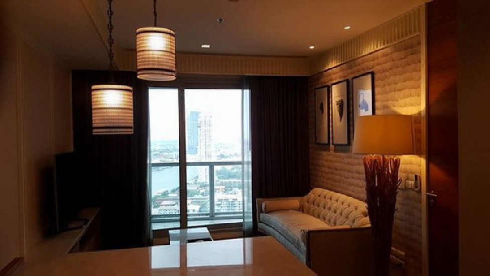 FOR RENT (เช่า) THE RIVER CHAROENNAKORN / 1 bed / 56 Sqm.**35,000** Fully Furnished. High