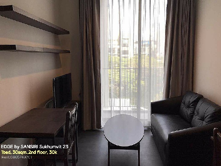 Rent The Edge Sukhumvit 23 คอนโดให้เช่า 1bed 1bath 30sqm.,2nd floor