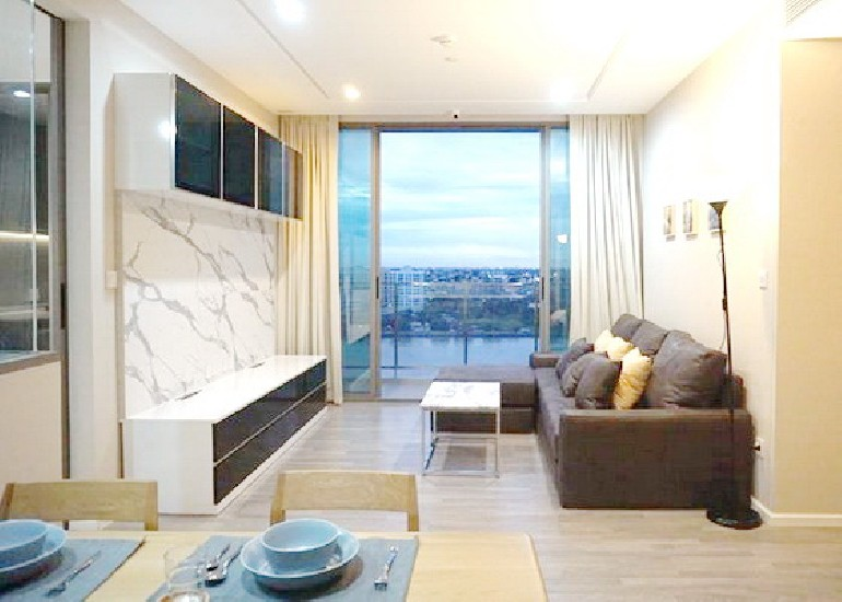 (เช่า) FOR RENT 333 RIVERSIDE CONDOMINIUM / 2 beds 2 baths / 83 sqm.**45,000** Fully Furni