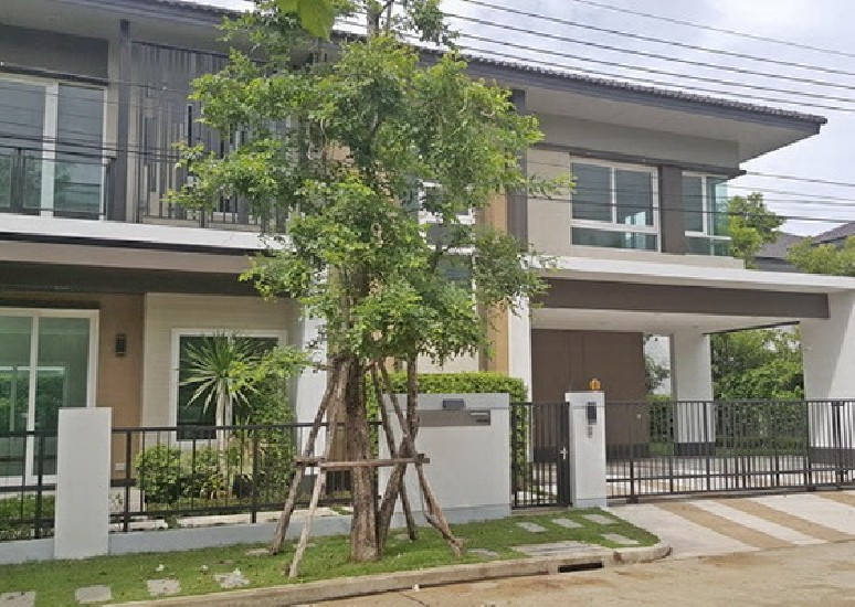 (เช่า) FOR RENT LADDAROM BANGNA KM.7 / 4 beds 4 baths / 82 Sqw.**100,000** NEW HOUSE. Full