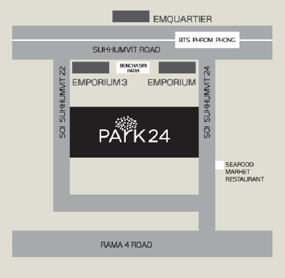 PARK 24 CONDO FOR SALE 1 BEDROOM 29.74 SQM  BTS PHROM PHONG