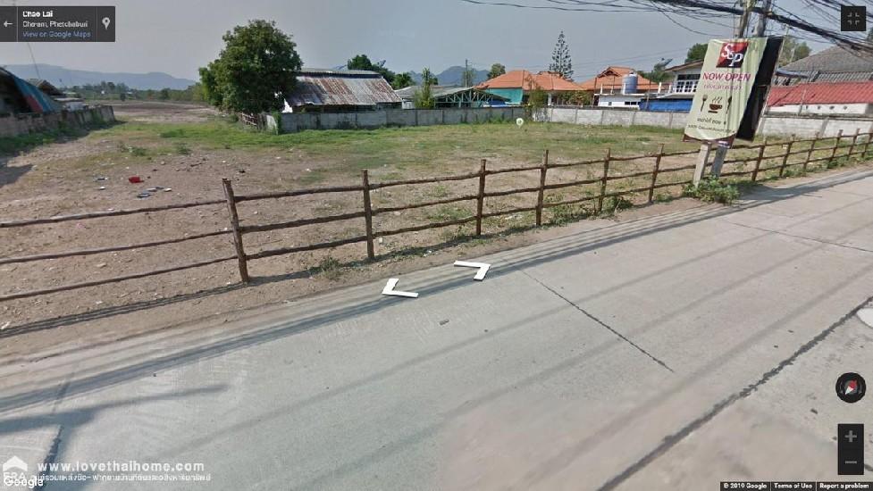 ขายที่ดินถนนเจ้าสายจังหวัดเพชรบุรี ตำบลชะอำ อำเภอชะอำ พื้นที่9-0-63.3ไร่ อยู่ไม่ไกลห่างทะเ