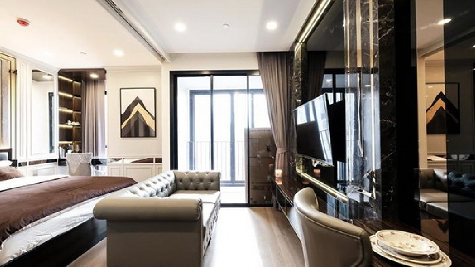 (เช่า) FOR RENT ASHTON CHULA-SILOM / 1 bedroom / 35 Sqm.**33,500** SUPER LUXURY DECOR. Ful