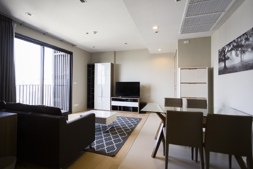 For Rent HQ 76Sq.M High Floors Tub Only 36th Floors  Building Thonglor 6 Close to BTS